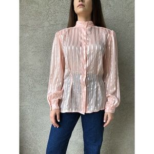 VINTAGE | pink blouse with peplum